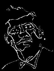 Logo John F. Kennedy Kopf Zeichnung