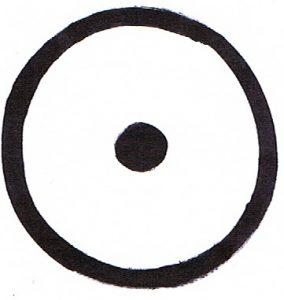 Abbildung: Kreis mit Punkt